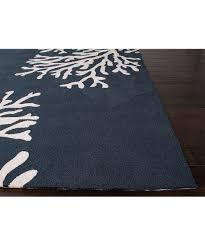 Black Outdoor Rugs by Jaipur Rugs Blue U0026 White Coral Reef Indoor Outdoor Rug Zulily