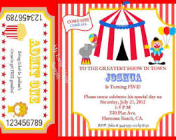 birthday circus invitations choice image invitation design ideas