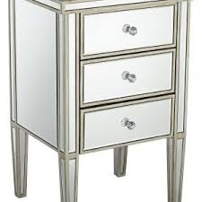 Silver Mirrored Nightstand Nightstand Mirrored Night Stand Within Breathtaking Image With