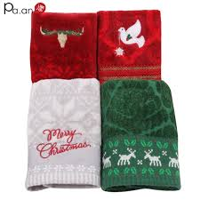 christmas towels christmas supply cotton towel embroidery sheared
