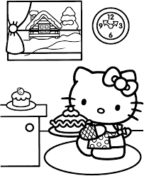 hello kitty christmas coloring page coloring pages printable and