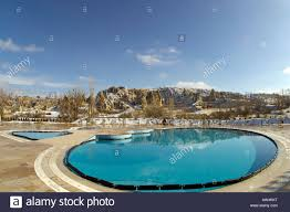a pool in a luxury hotel in goreme cappadocia turkey during the