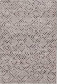 moroccan beni ourain double diamond wool dark gray rug 8 u0027 x 10 u0027