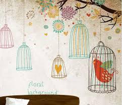 online get cheap 3d wallpaper with trees and birds aliexpress com