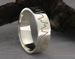 ultrasound wedding band heartbeat ring etsy
