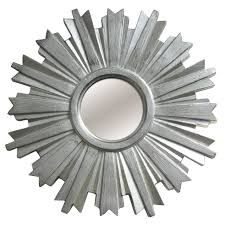 18 in beveled silver sunburst mirror at home at home