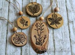 12 tree ornaments made from nature happy trails