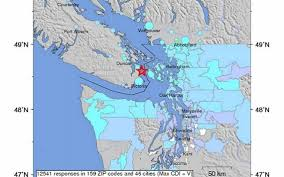Columbia Zip Code Map by Moderate Earthquake Jolts B C Whatcom County The Bellingham Herald