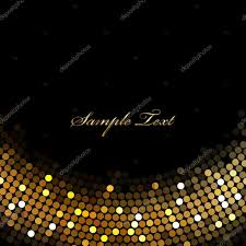 Gold Lights Vector Black Background With Gold Lights U2014 Stock Vector
