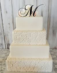 h cake topper 5 initial monogram wedding cake topper letter