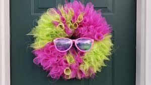 summer deco mesh wreath diy crafts youtube