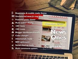 free blogger news u0026 magazine style blogspot template news ones