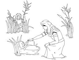 fancy baby moses coloring page 32 for your coloring pages for