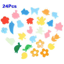 aliexpress com buy 24pcs different shapes children crafting