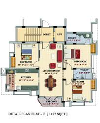 apartment design and floor plan 3 bedrooms duplex floor flats plan