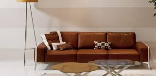 Bellini Leather Sofa Contemporary Sofa Leather 3 Seater Brown Bellini Alpa