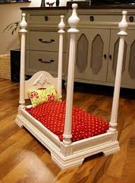 dog beds made out of end tables four poster dog bed made from an end table too cute but millie s