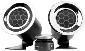Attractive Computer Speakers Evaluating The Soundscience Rockus 3d 2 1 Speaker System Hothardware