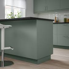 ikea grey green kitchen cabinets bodarp cover panel gray green ikea ca ikea in 2021