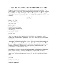 sample job rejection letter to employer resume acierta us