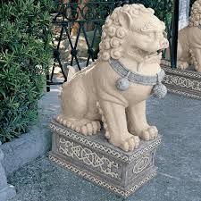 fu dog statues design toscano foo dog of the forbidden city statue