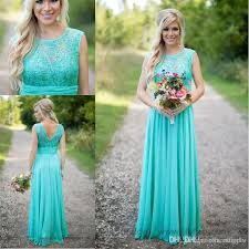 2017 new arrival turquoise bridesmaid dresses cheap scoop neckline