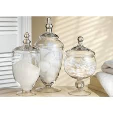 Bathroom Jars With Lids Modren Bathroom Jars With Lids Apothecary Bath Set L For Decorating