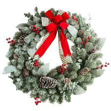 30 in unlit artificial christmas wreath with snowy leaves and