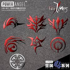 fate zero command spell metal sticker saber king arthur animation fate zero command spell metal sticker saber king arthur animation phone sticker wall sticker cartoon sticker in wall stickers from home garden on