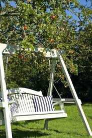swing garden chairs enjoyable outdoor wood swing chair charming