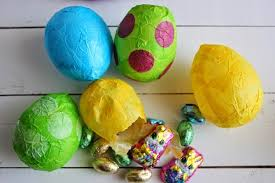 paper mache easter eggs d i y louisville candy filled paper mache eggs