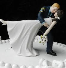 police officer cop groom uniform wedding cake topper dance bride