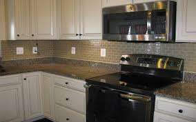 Kitchen Backsplash With White Cabinets by Decor Exciting Kitchen Decor Ideas With Peel And Stick Mosaic