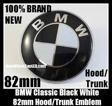 black and white bmw logo bmw original black white 82mm emblem roundel badge 2pins