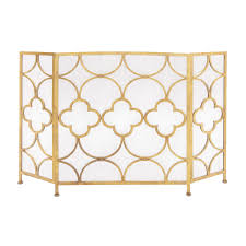 decorating single panel fireplace screen with doors