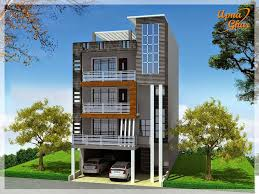 Row House Front Elevation - apnaghar house design complete architectural solution