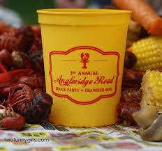 personalized crawfish trays personalized plastic cups lobster crawfish boil