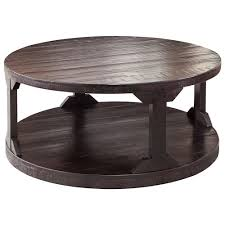 Rustic Round Coffee Table Signature Design By Ashley Rogness Rustic Round Cocktail Table