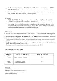 Regulatory Reporting Resume Resume Recon And Settlement New