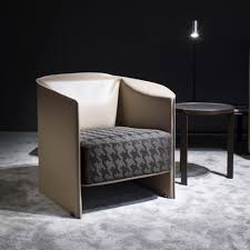 contemporary armchair fabric leather by rodolfo dordoni