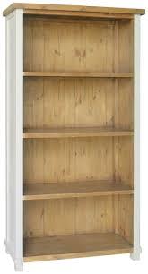 melton painted antique white bookcase