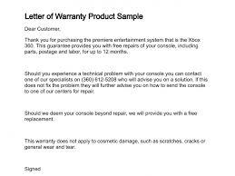 Financial Warranty Letter letter of warranty