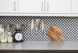 Kitchen Backsplash Cost Kitchen With Black And White Wallpaper Backsplash Low Cost