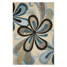 Brown And Turquoise Area Rugs Kas Rugs Bali 2880 Silhouette Area Rug Ivory Hayneedle