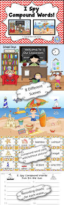 Kids love to search and find objects in pictures  and I Spy Compound Words