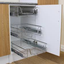 35 pull out cupboard storage pull out wire cargo basket kitchen
