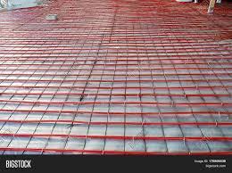 heated floor installation plastic image photo bigstock