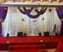 wedding backdrops for sale 3m 6m purple swags hot sale lilac wedding backdrop stage curtains