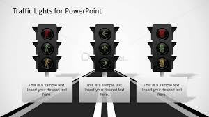 3 led traffic light shapes for powerpoint slidemodel