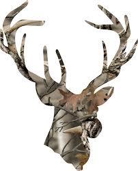 deer head amazon com camo deer head with antlers sticker automotive